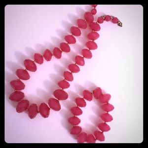 Jewelry - Pink Springtime necklace and bracelet